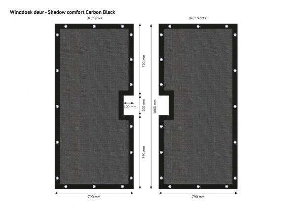 Gipea Easy To Fix Optimal Visibility Protection For Gate & Fence Maatwerk voor uw poorten en balkons CARBON BLACK zichtreductie van  (95%)