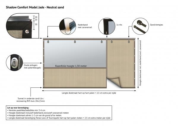 Gipea Easy To Fix Optimal Visibility Protection For Gate & Fence Gipea Veranda Fix Comfort 3 tot 4 M.