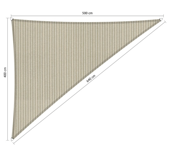 Gipea Easy To Fix Optimal Visibility Protection For Gate & Fence Gipea Shadow Fix Schaduwdoeken  triangle driehoek triangle 90° 4 x5 x 6,40 meter