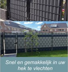 Gipea Easy To Fix Optimal Visibility Protection For Gate & Fence Combi Deal  50 meter + 9 x strook voor uw Poort