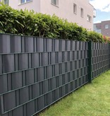 Gipea Easy To Fix Optimal Visibility Protection For Gate & Fence Gipea vlechtband Budgetline  pvc  35 METER incl. 20 klemmen zwart