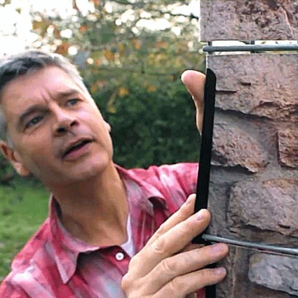 Gipea Easy To Fix Optimal Visibility Protection For Gate & Fence Montage klemmen 19 cm.  20 stuks zwart
