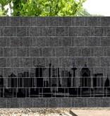 3-D  vlechtbandband Grafiet Decor panorama