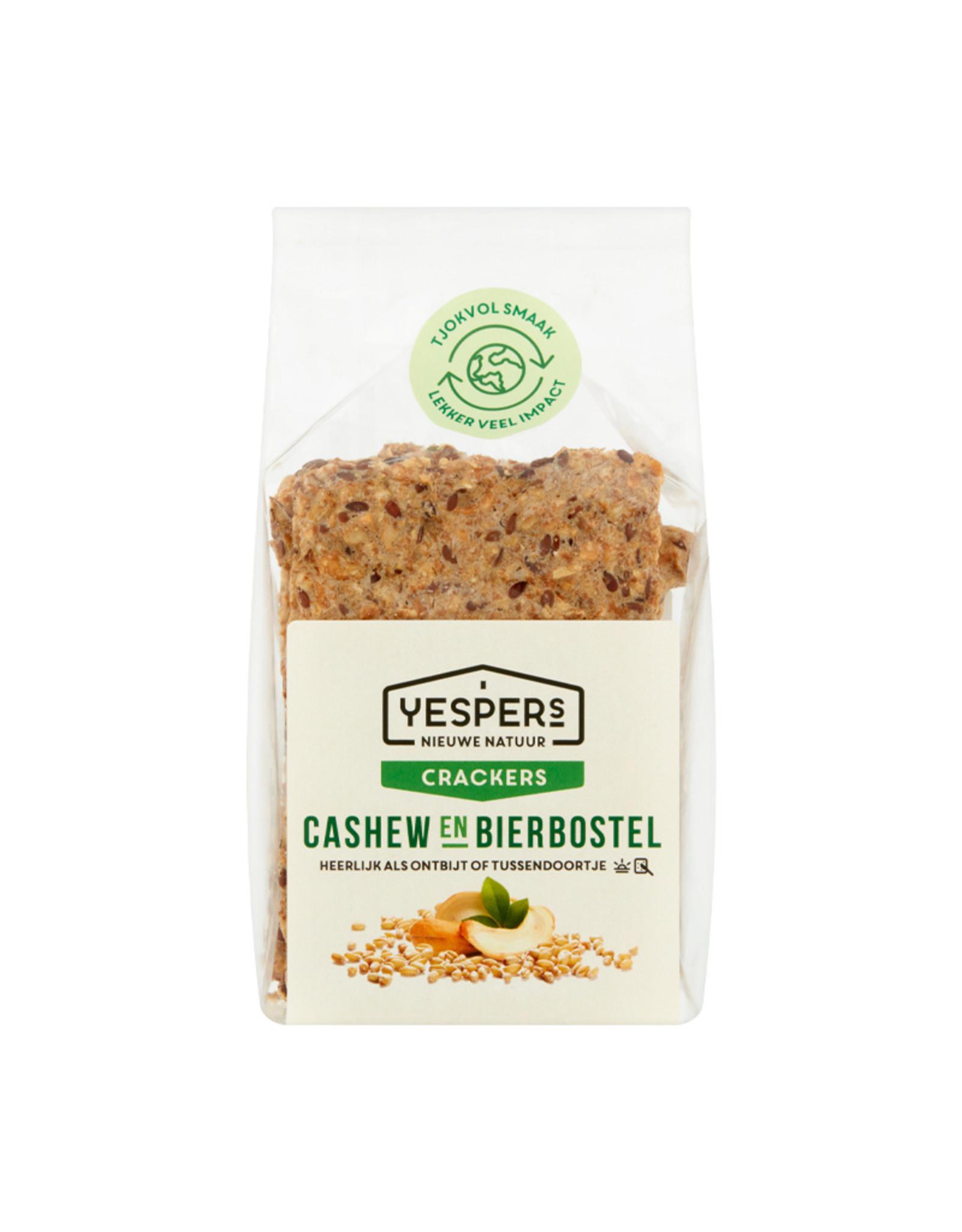 Yespers Crackers Cashew & bierbostel