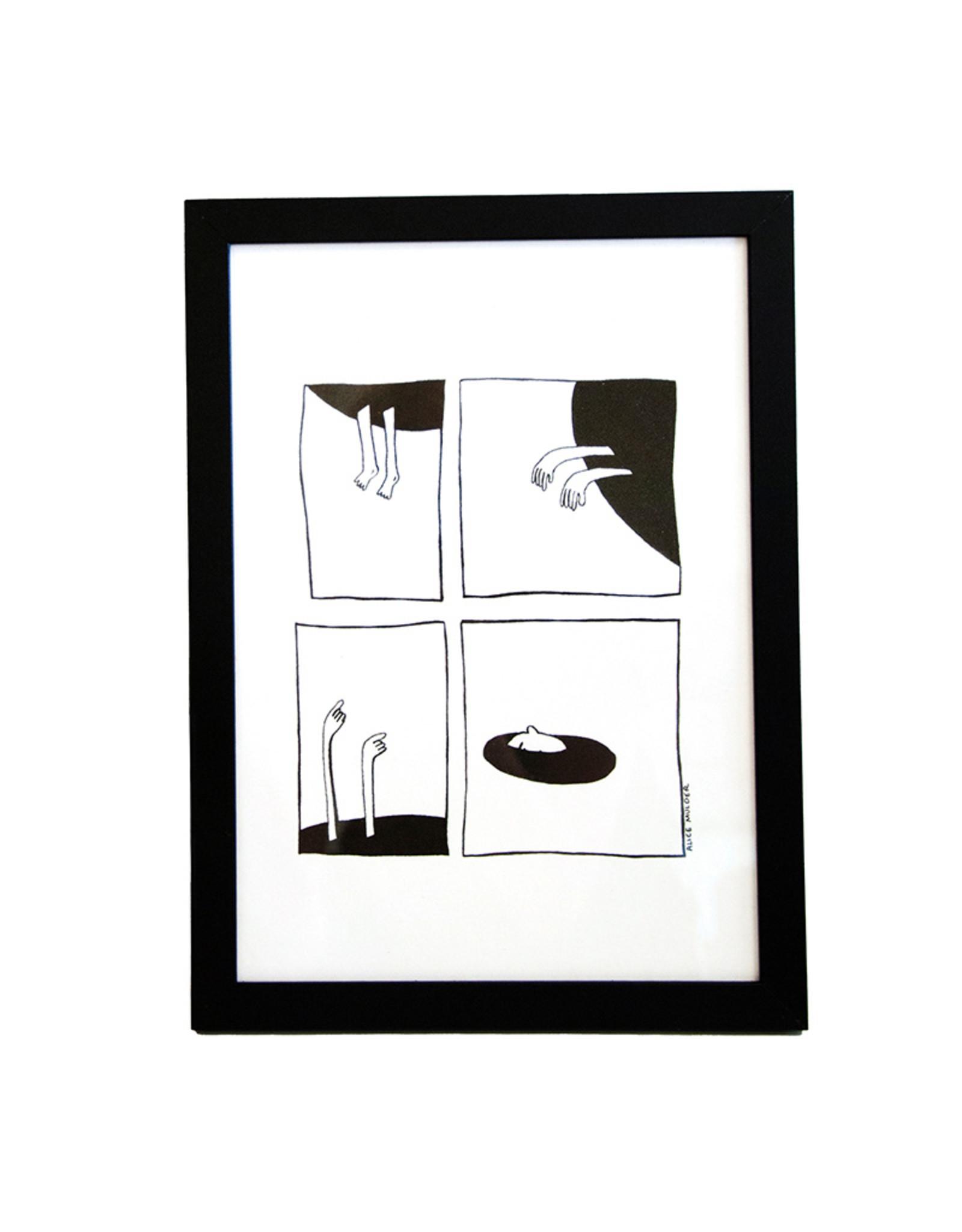 Alice Mulder Alice Mulder - Black Hole, Riso Print