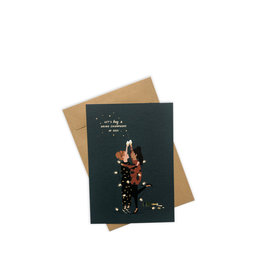 Brein Boerderei Knuffelkaart - Let's Hug & Drink Champagne