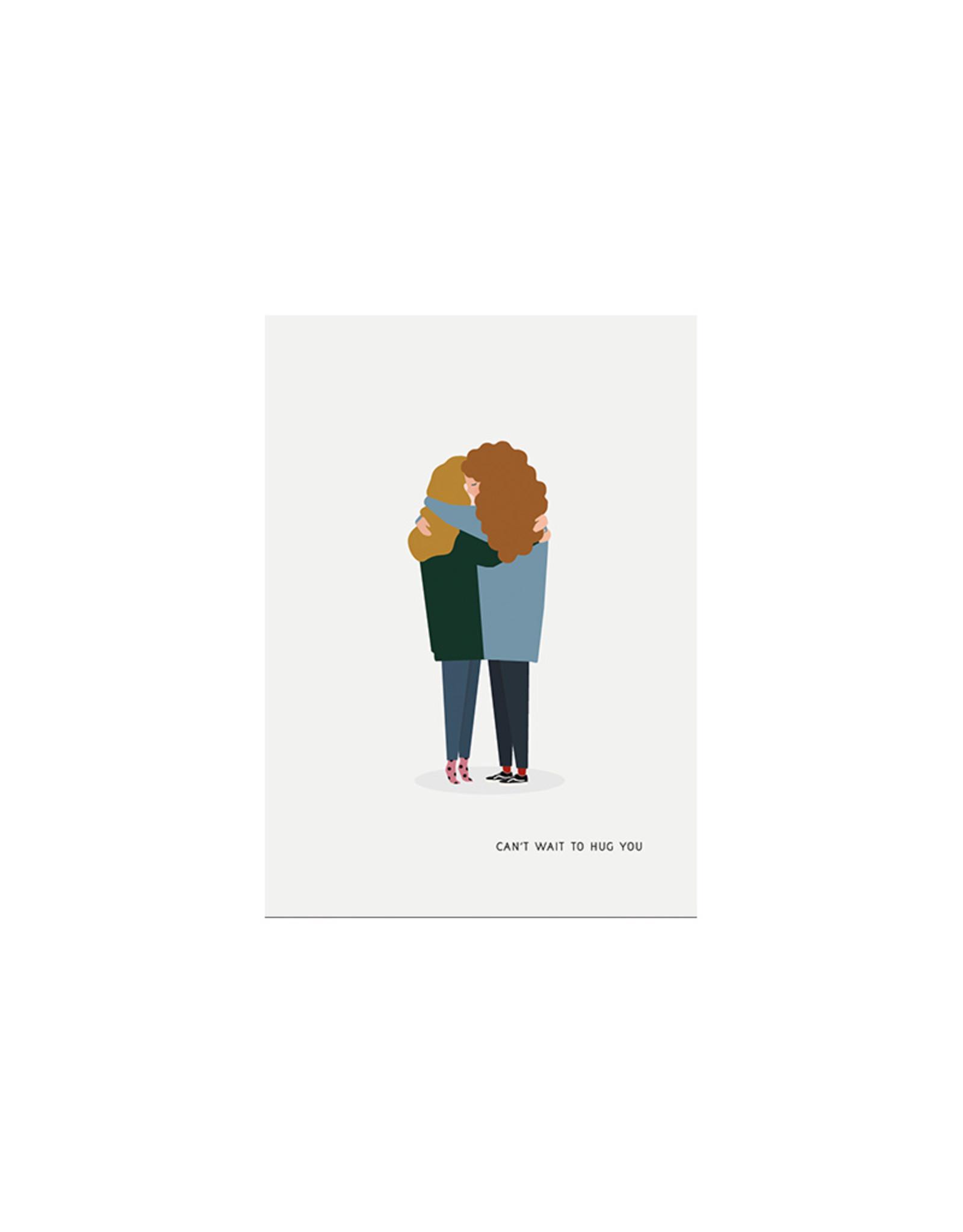 Brein Boerderei Knuffelkaart - Can't wait to hug you - BFF