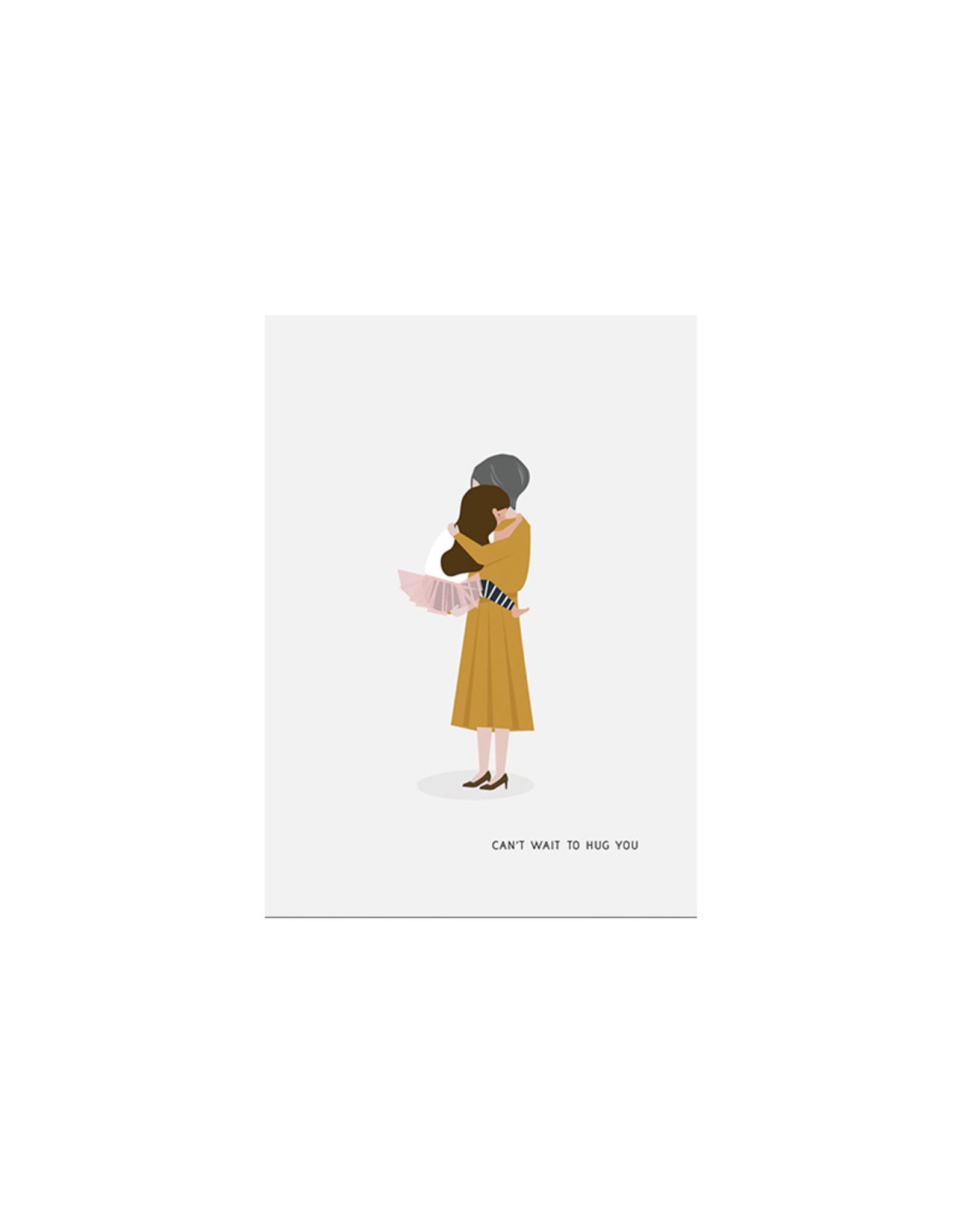 Brein Boerderei Knuffelkaart - Can't wait to hug you - Oma