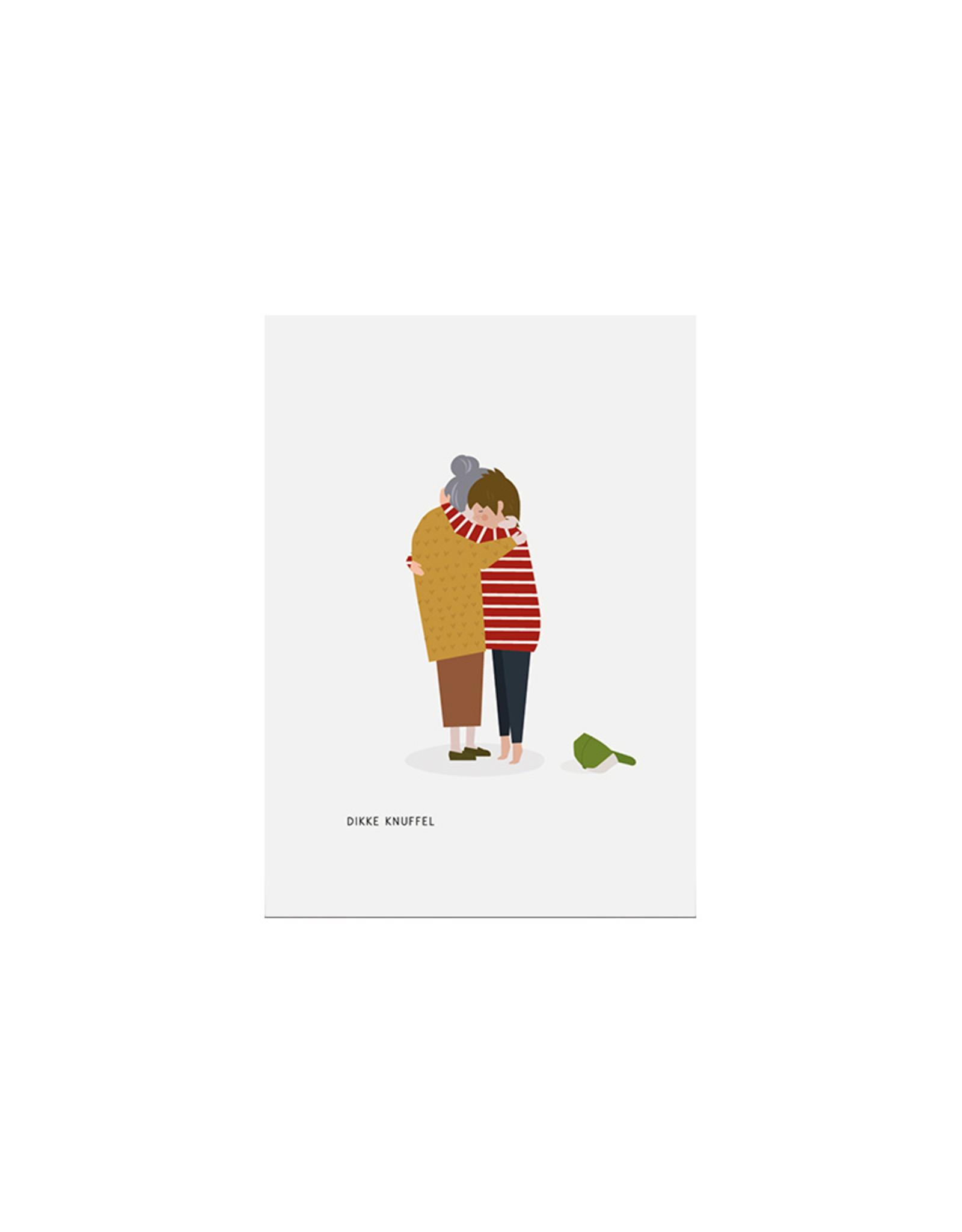 Brein Boerderei Knuffelkaart - Dikke knuffel - Oma