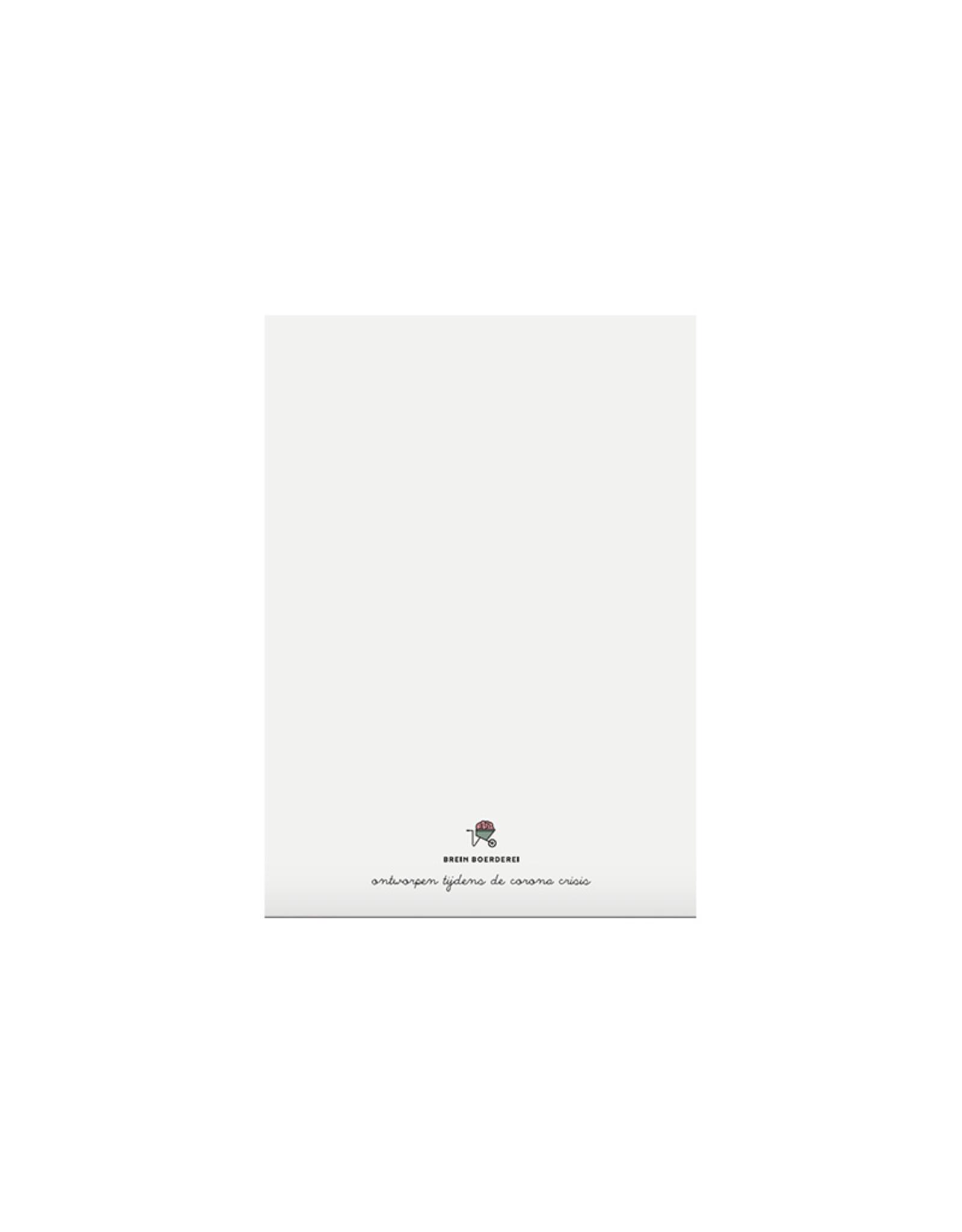 Brein Boerderei Knuffelkaart - Kantoor knuffels
