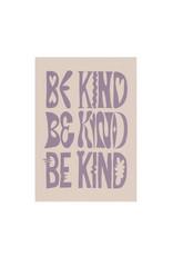 Glitterstudio Glitterstudio - Be Kind Lilac, print A4