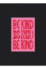 Glitterstudio Glitterstudio - Be Kind, Red & Pink, Postcard A6