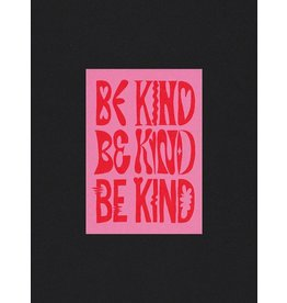 Glitterstudio Be Kind - Red & Pink - Postcard A6