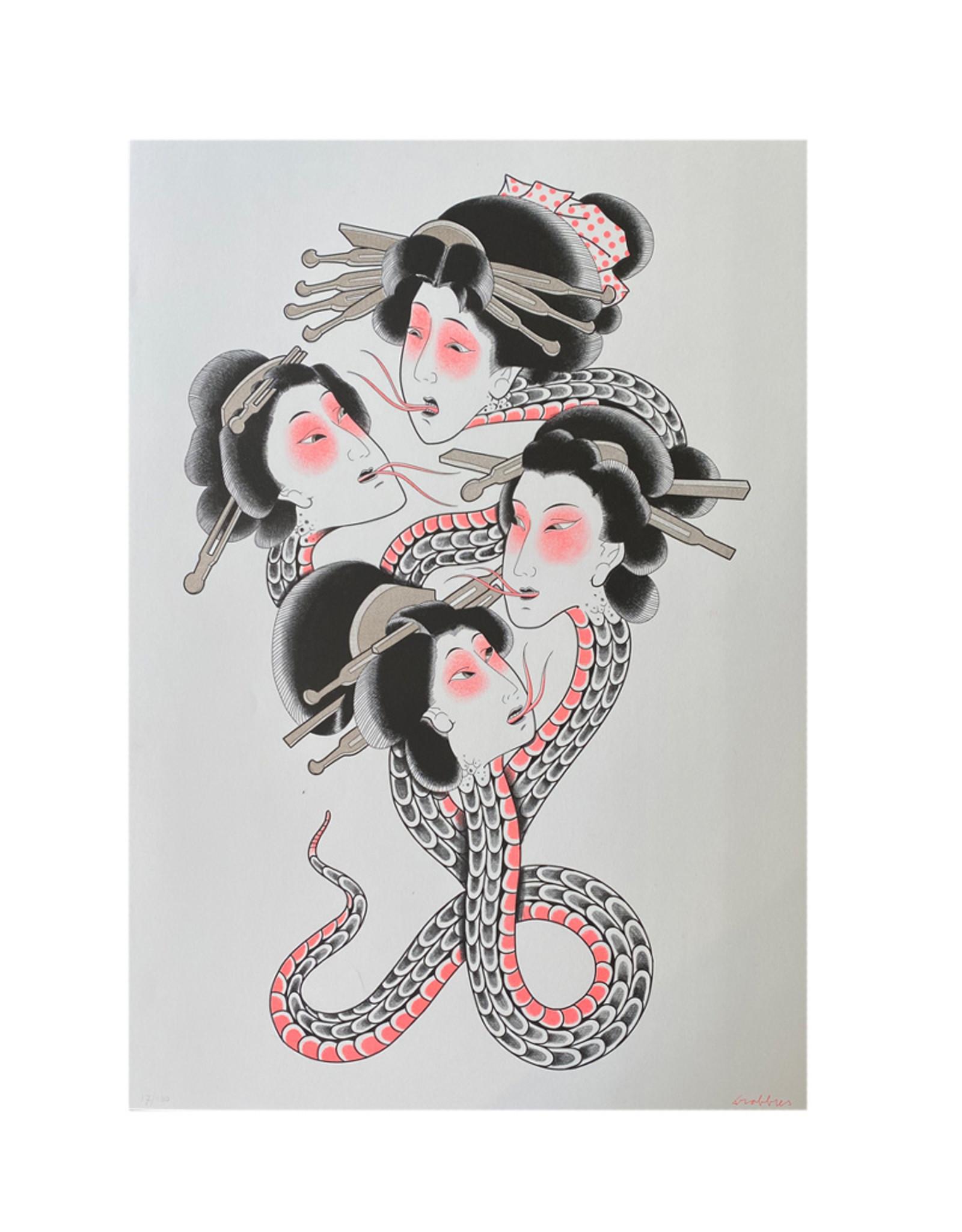 Trobbies Trobbies - Reversed Medusa, Riso Print