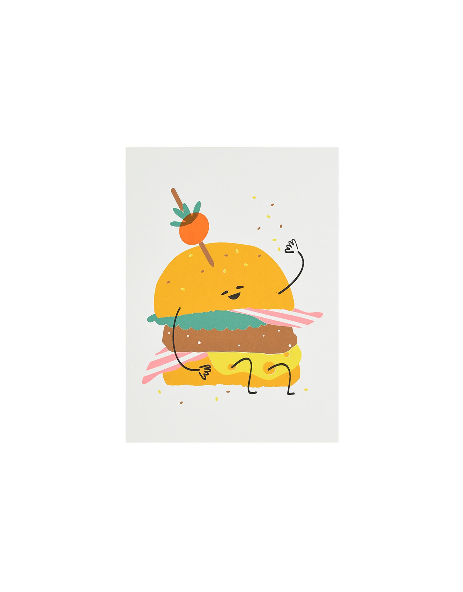 Marloes Kroeze Marloes Kroeze - Ansichtkaart Hamburger