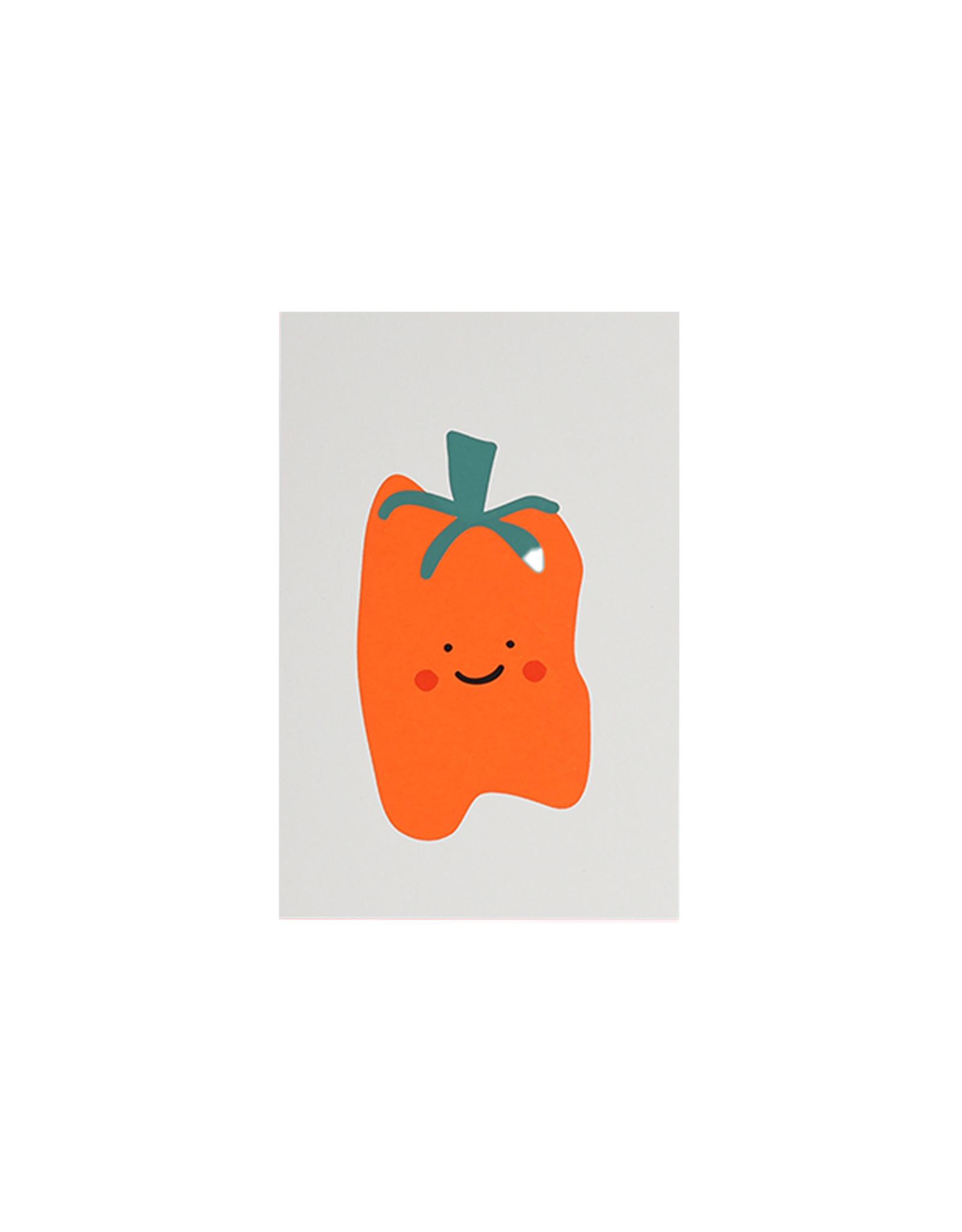 Marloes Kroeze Marloes Kroeze - Ansichtkaart Oranje Paprika