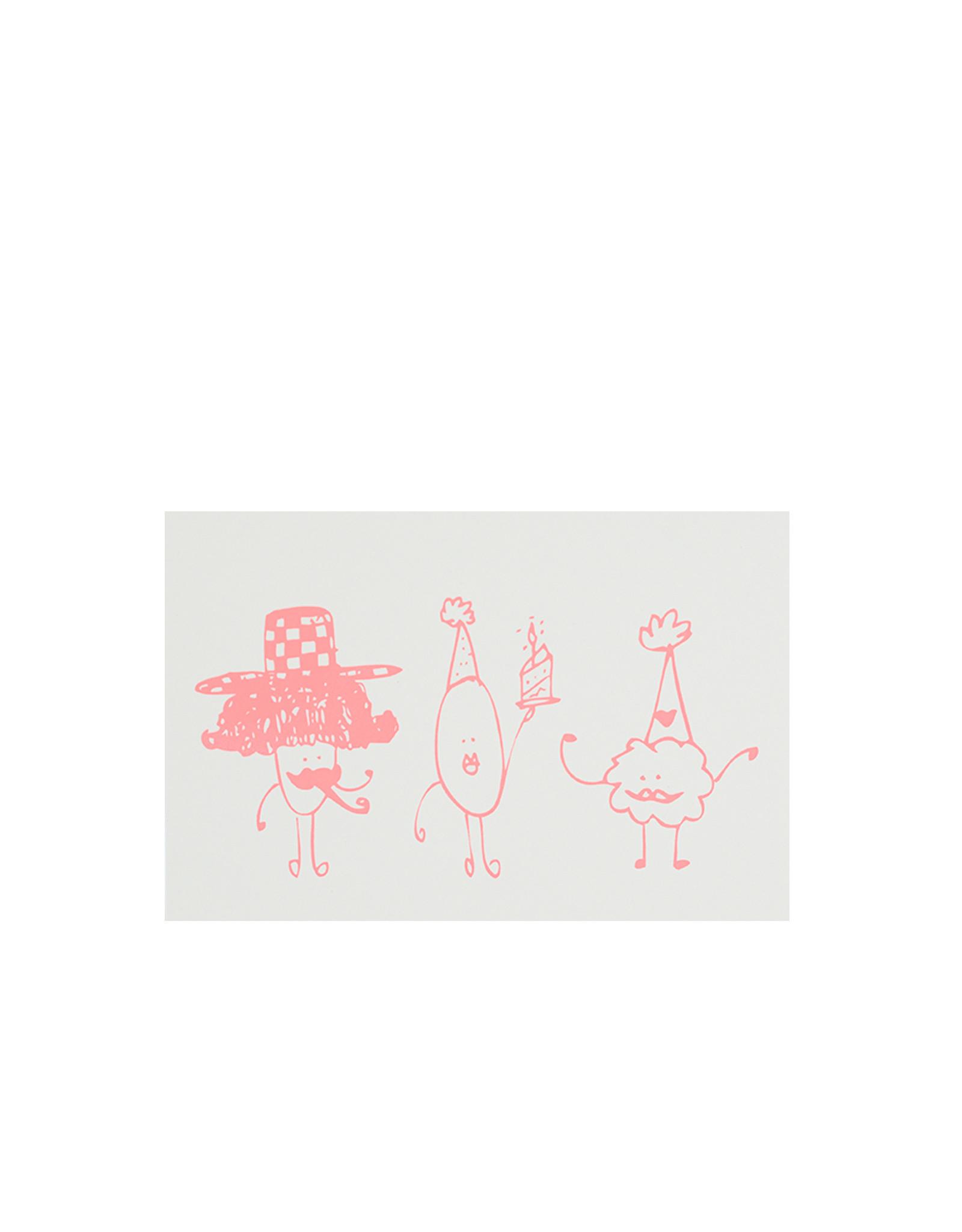 Marloes Kroeze Marloes Kroeze - Ansichtkaart Verjaardag Drie Popjes