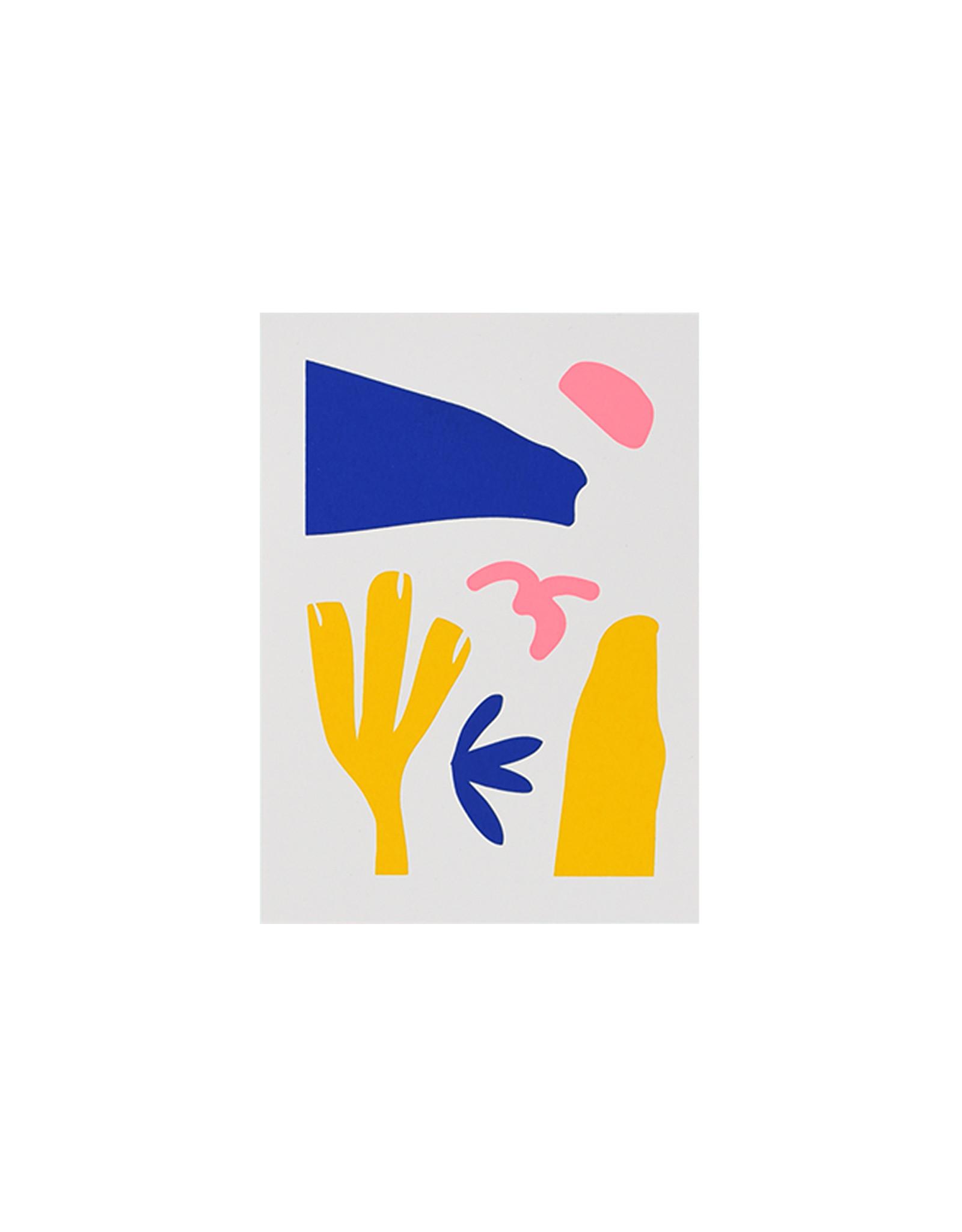 Marloes Kroeze Marloes Kroeze - Ansichtkaart Drie Kleuren, 3