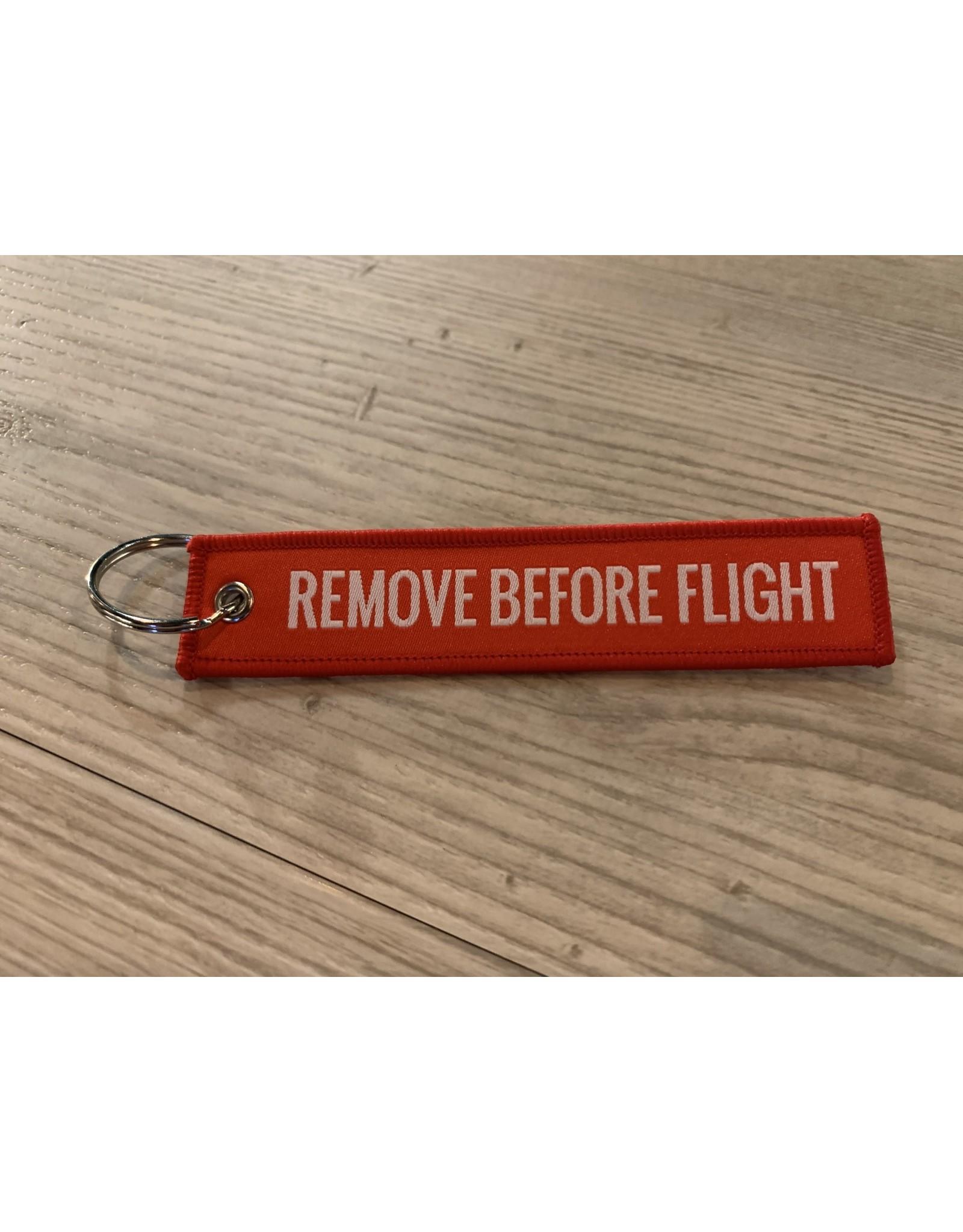 MotoPoint Sleutelhanger Remove before flight rood