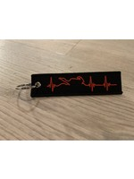 MotoPoint Sleutelhanger Heartbeat zwart