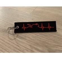 Sleutelhanger Heartbeat zwart