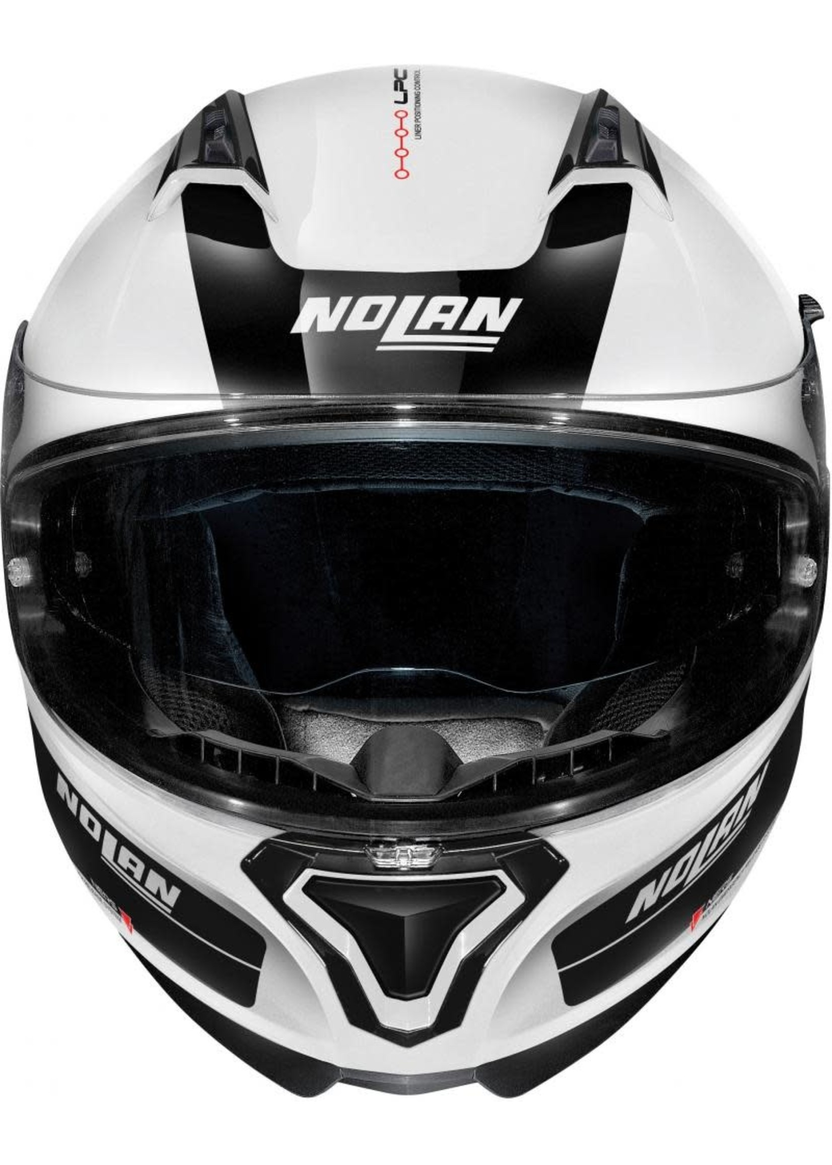 Nolan N87 Plus distinctive N-com metal white