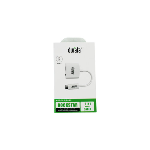 Durata  Rockstar Type C to 3.55mm with audio and charging adapter DR-L09