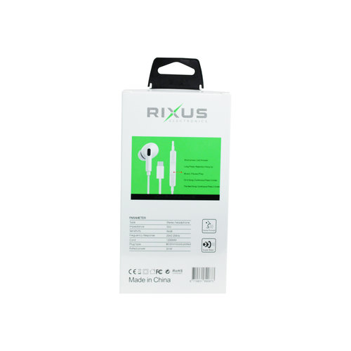Rixus  Stereo Earphone for Type C RX-HD20C