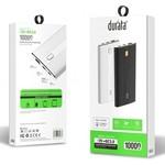 Durata  (QC3.0) 10.000mAh Dual USB Powerbank - DR-P104 (Black)