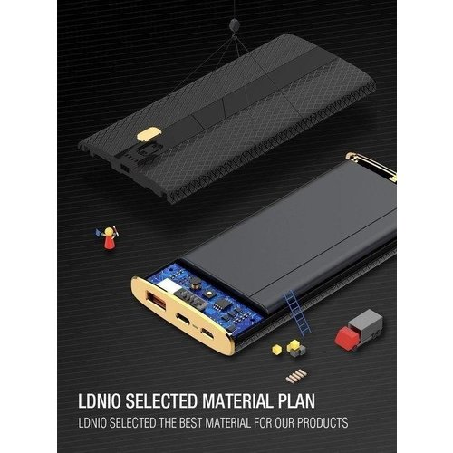 Durata (QC3.0) 10.000 mAh Dual USB Powerbank - DR-P104 (Zwart)