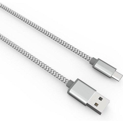 Durata USB Datakabel Micro-USB 2M Zilver (DR-LS172)
