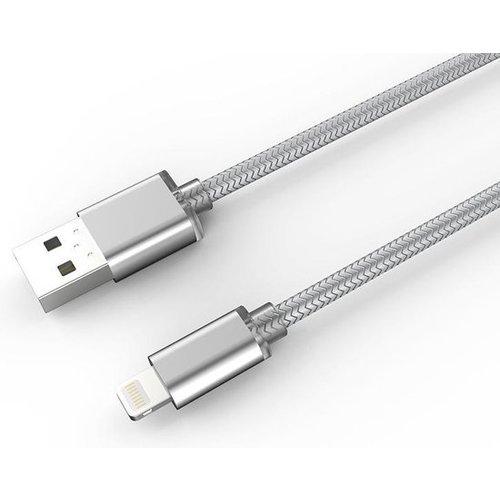 Durata USB Datakabel Lightning 2M - Zilver (DR-LS171)