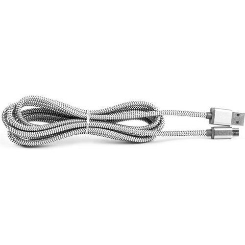 Durata  USB Data Cable Lightning 2M - Silver (DR-LS171)