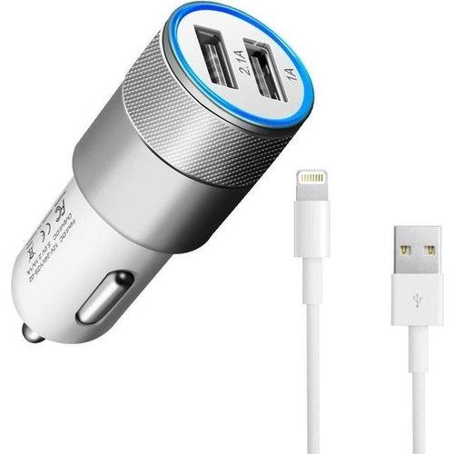 Durata  Car Charger Dual USB 2.1A White DR-DC858