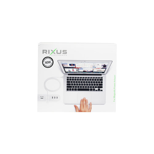 Rixus  60W Charger for Macbook - T Tip