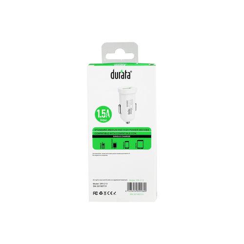 Durata Enkele USB-autoadapter 1,5 A (DR-C13)