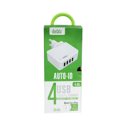 Durata  (DR-4403) Charger with 4 USB ports 5V 4.4A