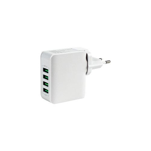 Durata (DR-4403) Oplader met 4 USB poorten 5V 4.4A
