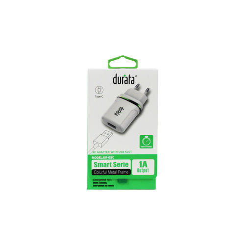 Durata Adapter met USB Type-C Datakabel DR-65C Wit