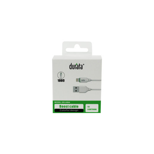Durata Boost Data Cable Lightning 100cm White DR-U80A