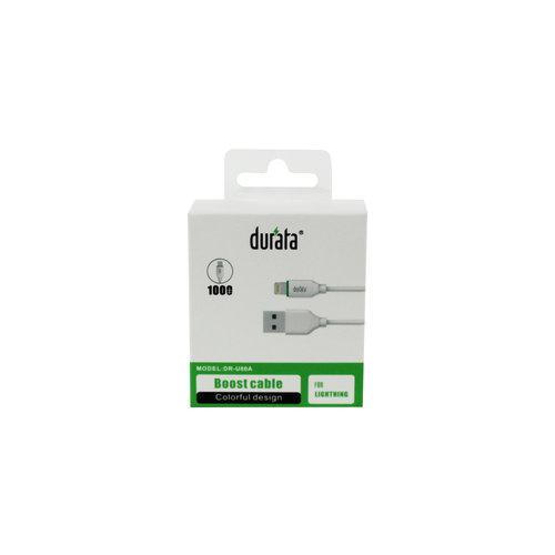 Durata Boost Datakabel Lightning 100cm Wit DR-U80A