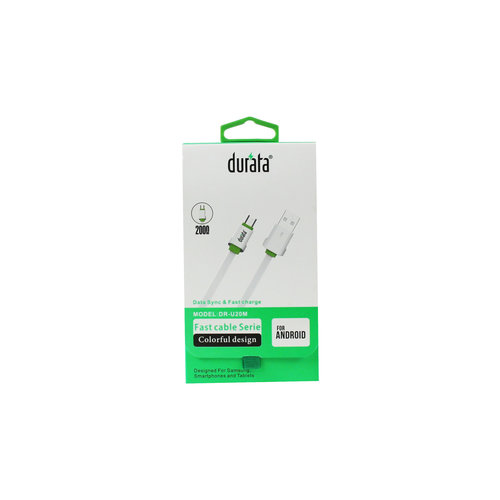 Durata  Fast Charging Micro USB Data Cable 2M (DR-U20M)