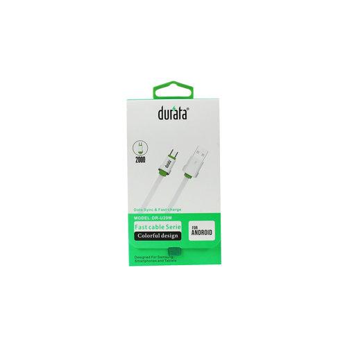 Durata Micro-USB-datakabel voor snel opladen 2M (DR-U20M)