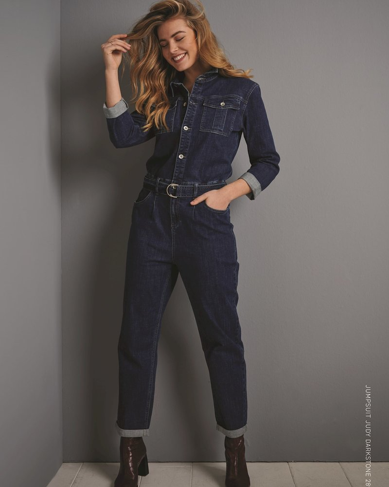 Red Button Jumpsuit Judy