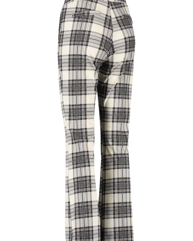 Studio Anneloes Flair Bonded Plaid Trousers