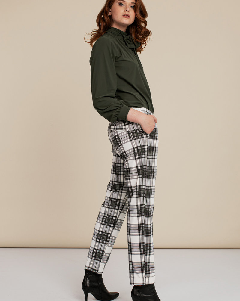 Studio Anneloes  Anne Bonded Plaid Trousers