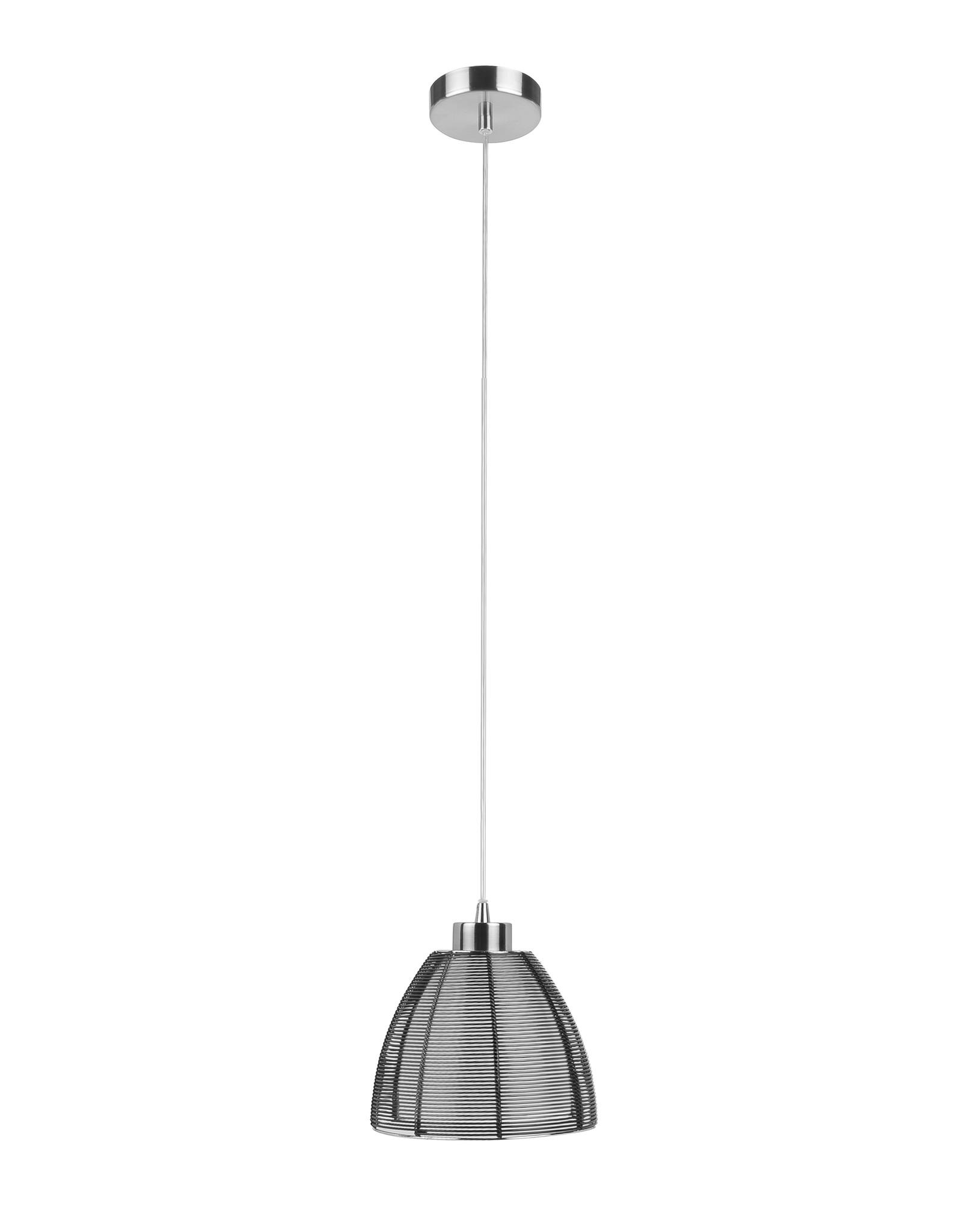 Hanglamp Whires E27 klein Zwart Alu