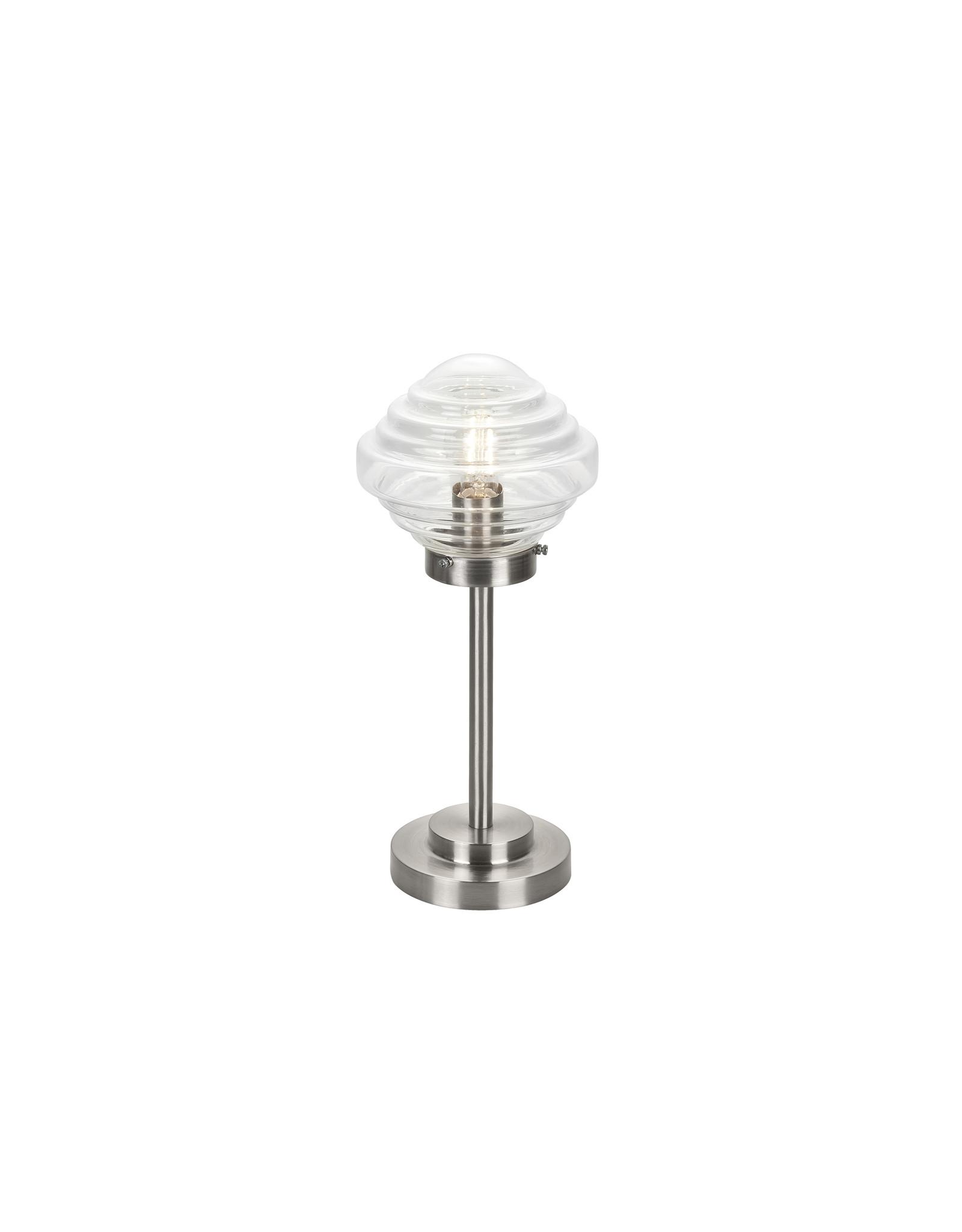 Tafellamp Artdeco E14 Nikkel Mat