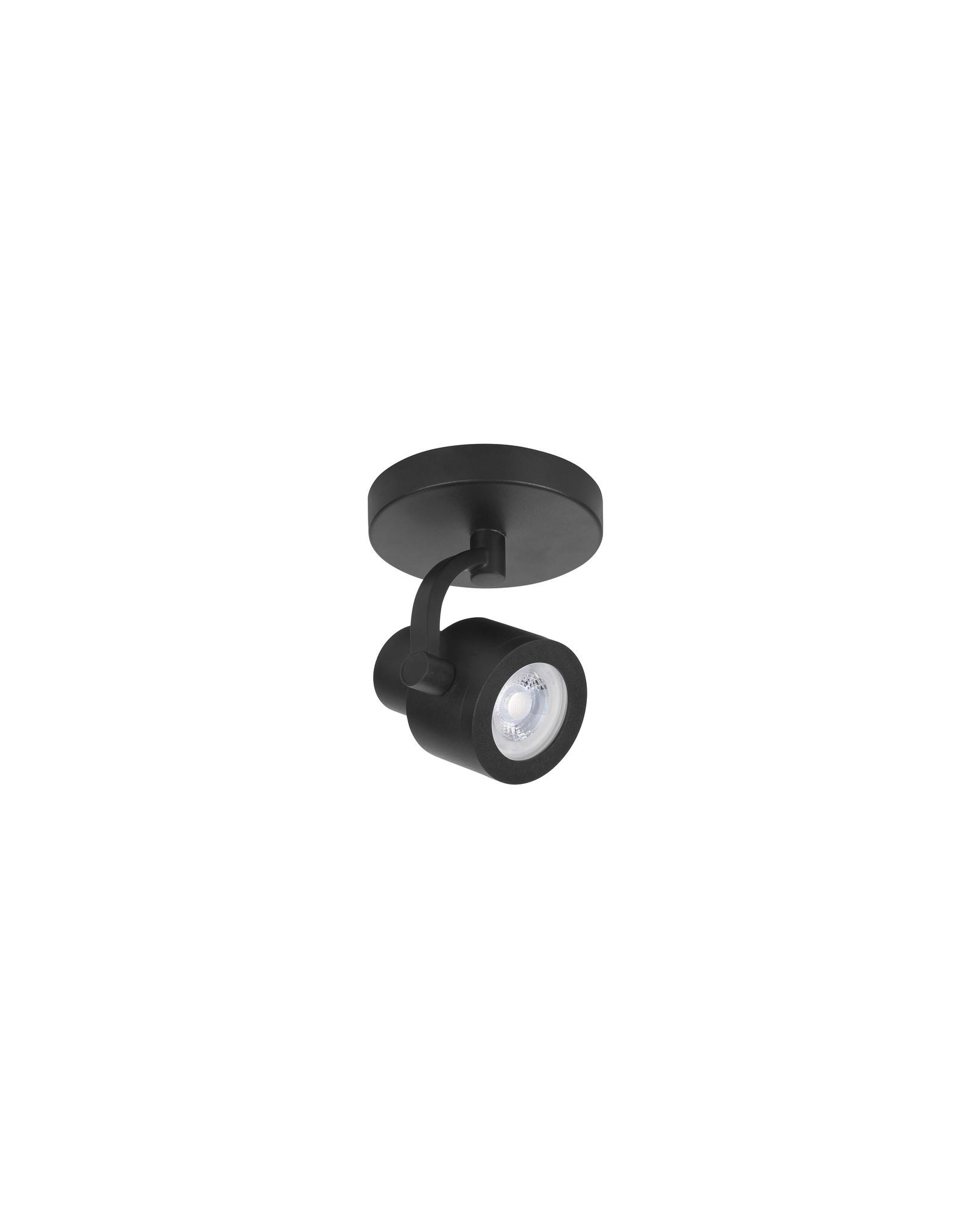 Alto Spot 1 Li. GU10 Rond Mat Zwart z.lamp