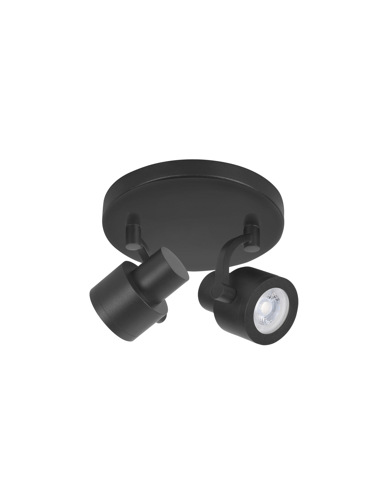 Alto Spot 2 X 5,5W GU10 LED Rond Mat Zwart